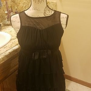Candie' black evening dress size 14